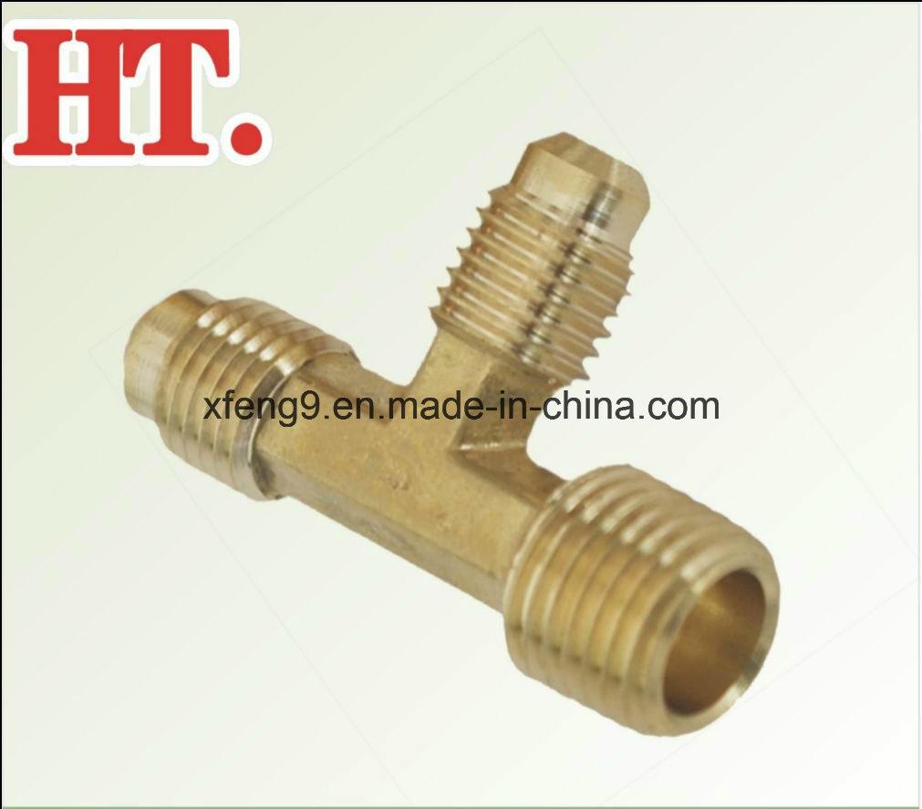 Brass Flare 2-Way Male Run Tee Fitting