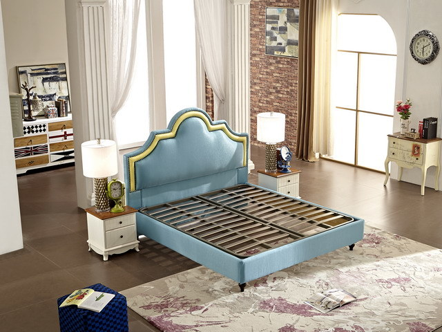 2017 Bedroom Furniture Fabric Modern Soft Bed Designs Jbl2003