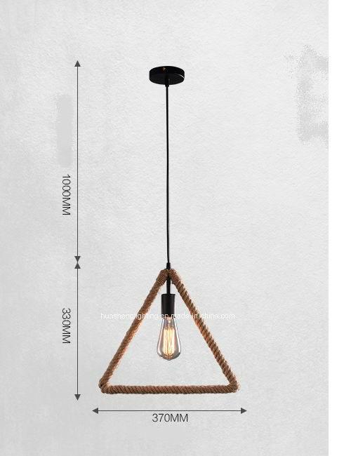 Retro-Style Hemp Rope Pendant Lamp/Creative Pendant Light