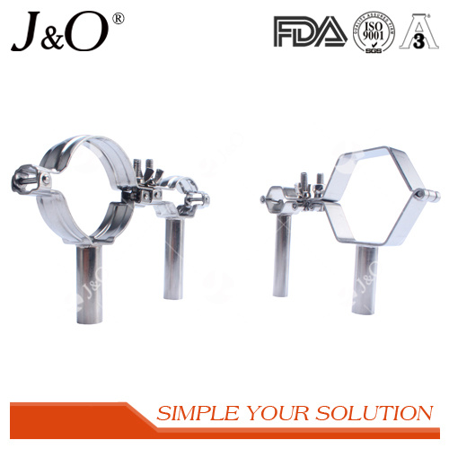 Sanitary Hexagon Pipe Holder with Handle Sanitary Fittings