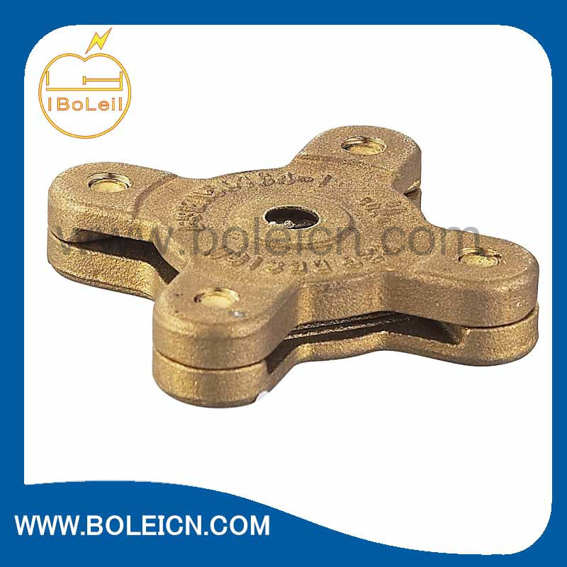 Copper Alloy Brass Square Tape Clamp Power Fitting Made in China OEM ODM Available