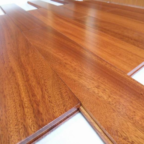 T&G System UV Lacquered Iroko Wood Flooring