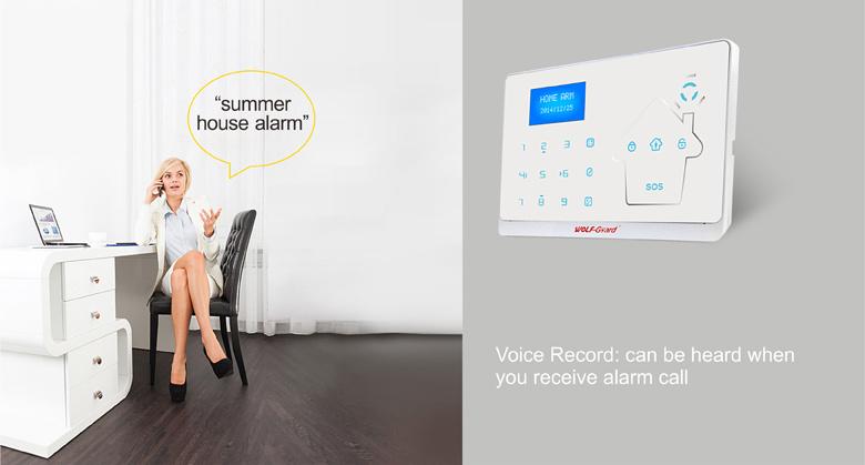 GSM and PSTN Double Network Intelligent Home Security Burglar Alarm with Door Bell Function