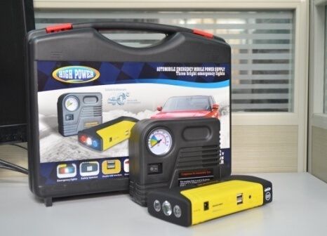 Multi-Function Auto Jump Starter with 16800mAh Large Capacity.