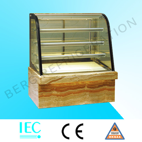 Marble Based Glass Commercial Cake Display Refrigerator for Bakery Equipment