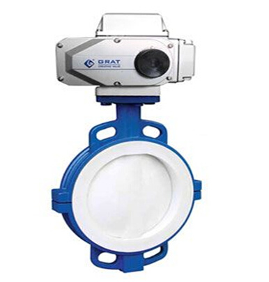 Fluorine Electric Butterfly Valve