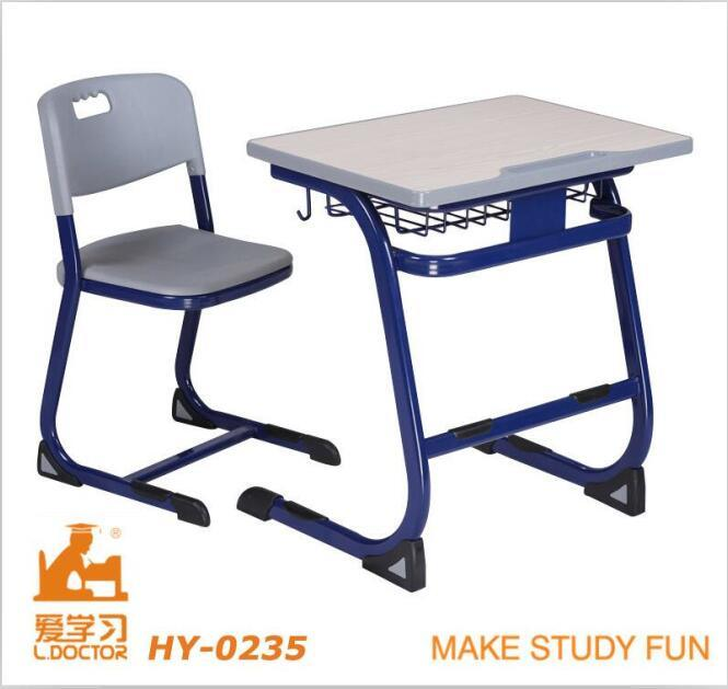 Student Desk and Chair/Metal and Wooden School Furniture