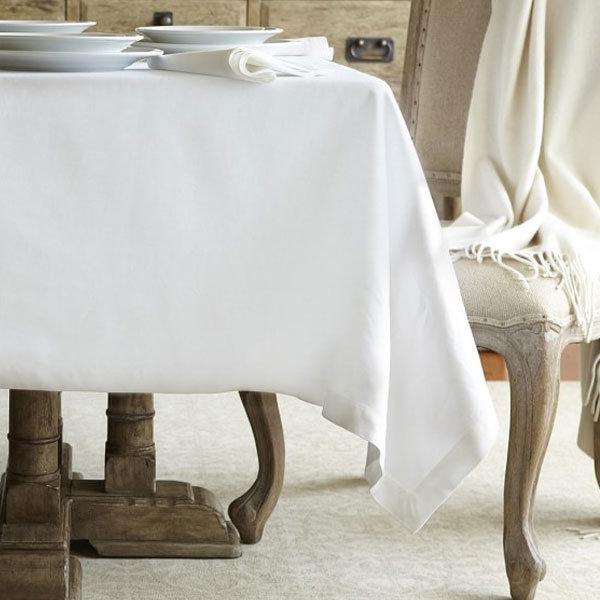 White 100% Cotton Hotel Tablecloth Napkin/Tablecloth (DPFR80125)