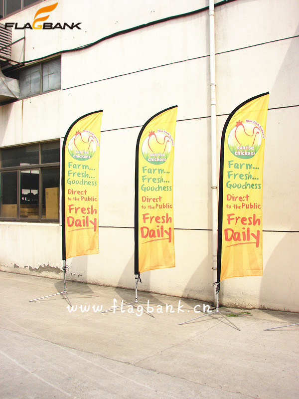 3.4m Exhibition Aluminium Digital Printing Flying Flag/Feather Flag