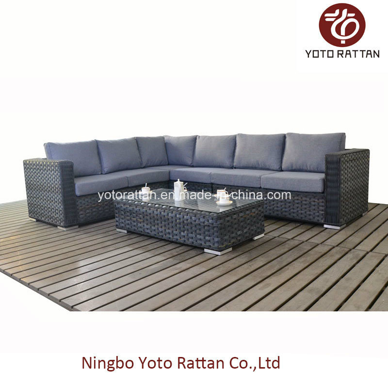 Grey Rattan Long Sofa for Outdoor (1502)