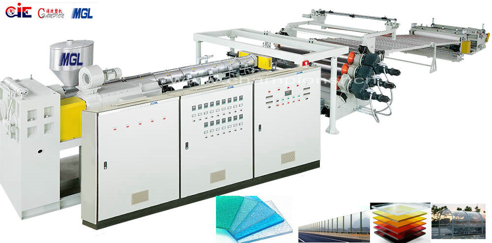 High Efficiency Excellent Quality Corrugated PC Extruding Machine