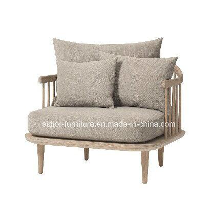 (SD-6005-1) Modern Hotel Restaurant Living Room Furniture Wooden Fabric Sofa