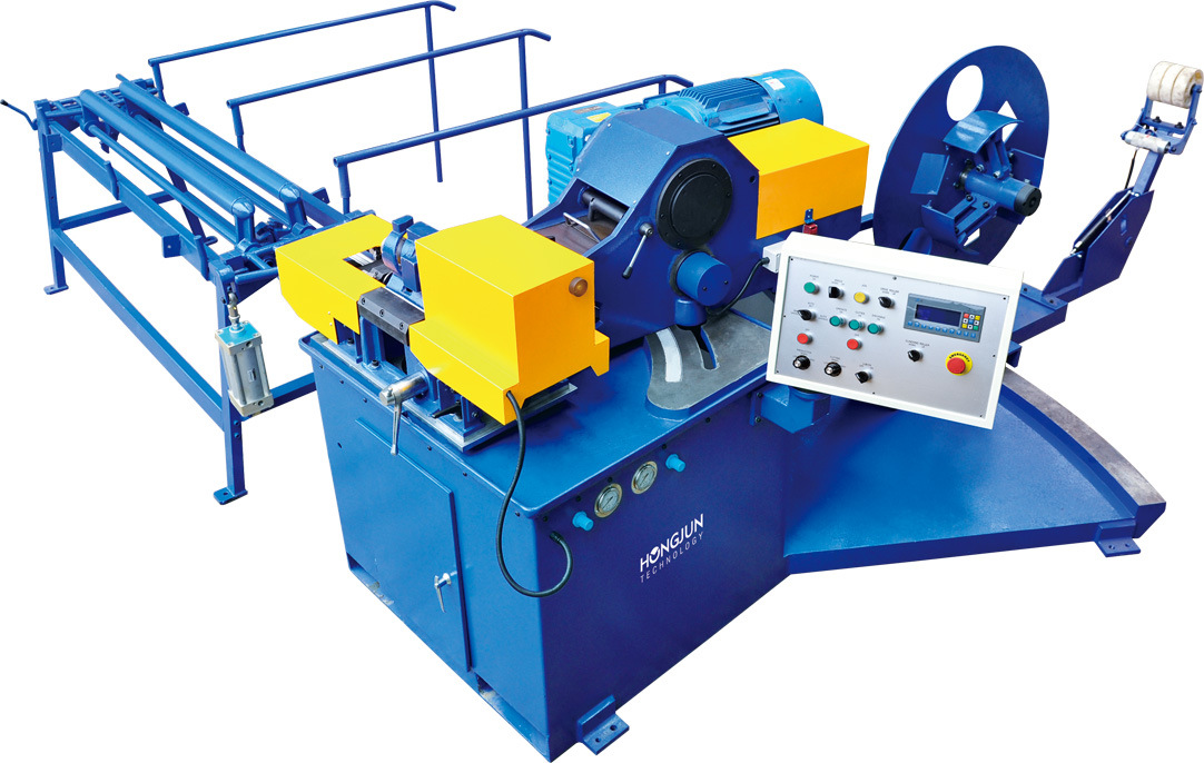 Spiral Tube Machine with Length Roller Shear Cutting Device