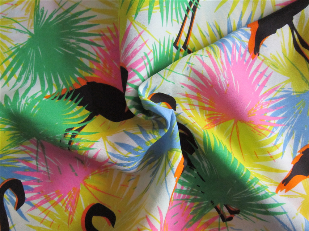 Polyester Spandex Chiffon Printing Fabric for Skirt