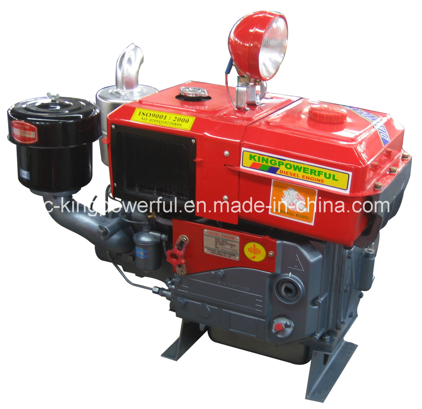 Water Cooled Diesel Engine with 30HP Radiator and Light