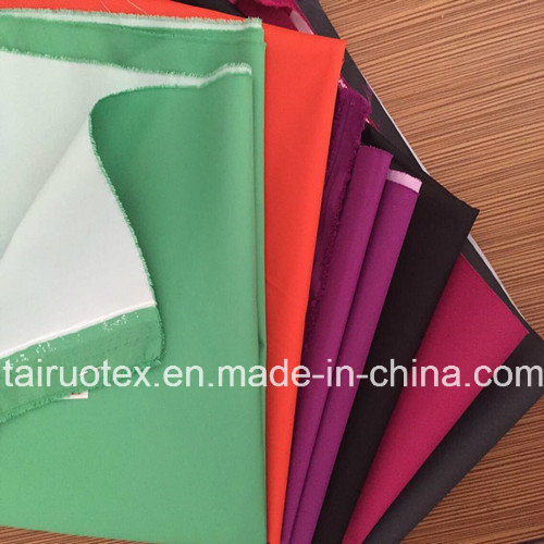 100% Polyester Pongee Fabric with White Coated for Jacket Fabric