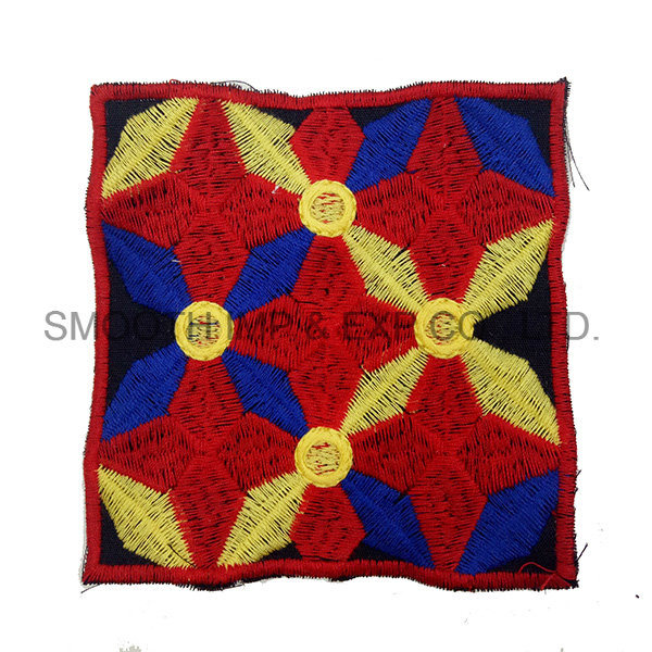 Newest Fashion Colorful Square Ethnic Embroidery Patch Garment Accessorye Badge