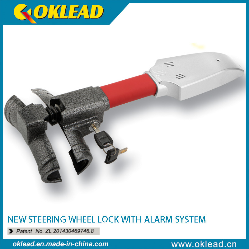Vibration Sensor Car Steering Wheel Lock with Siren Alarm