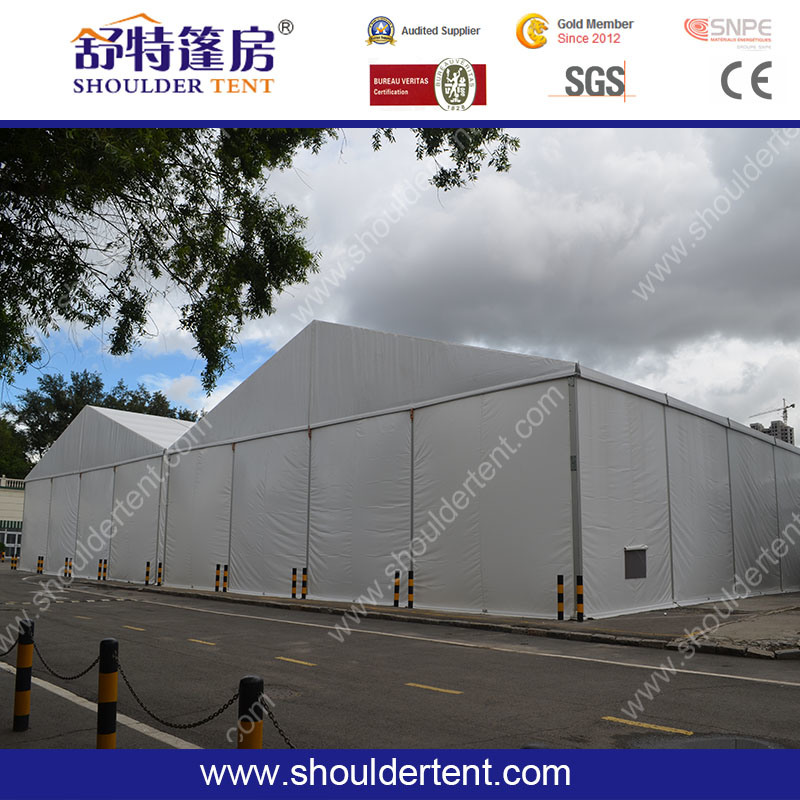 Shoulder Temporary Aluminum Warehouse Storage Tent