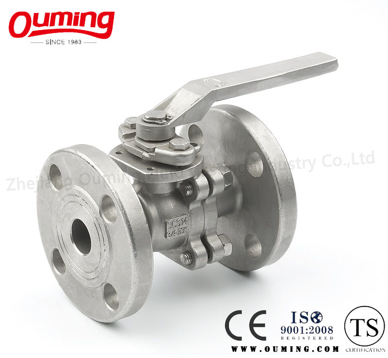 2 PC Flanged Manual Ball Valve