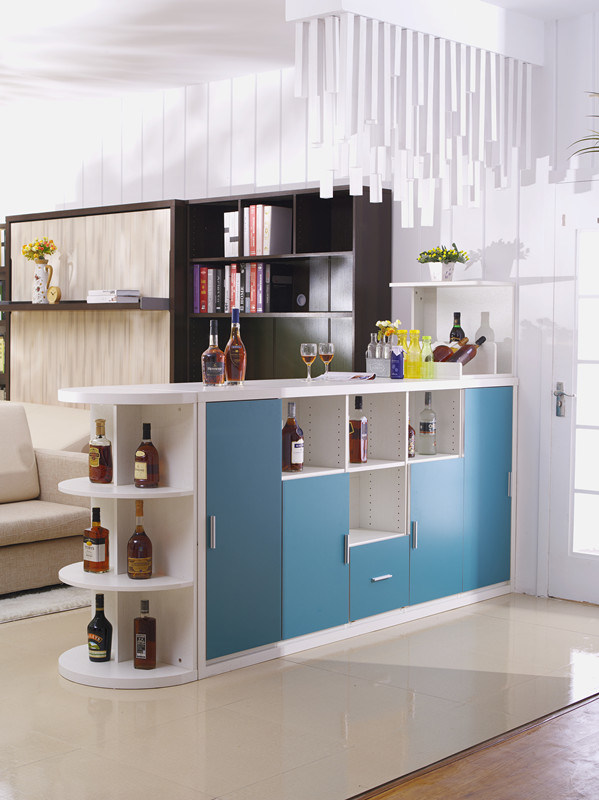 Bar Table with Horizotal Tilting Hidden Double Bed Sofa Bed