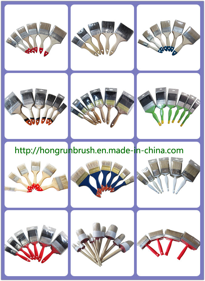 Wooden Handle Bristle Paint Brush (HYW006)