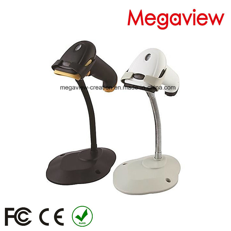 White USB Cable Wired Auto Scan Barcode Scanner with Stand/Bracket (MG-BS2243T)