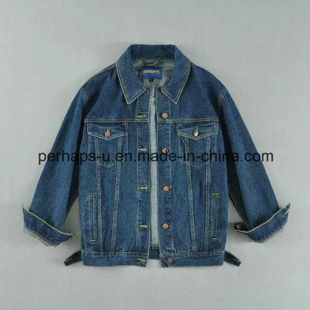 Fashion Wild Ladies Cardigan Denim Jacket with Bf Style