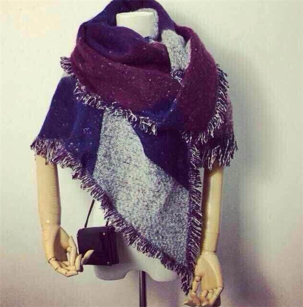 Fashion Women Warm Tessel Blanket Winter Cashmere Scarf