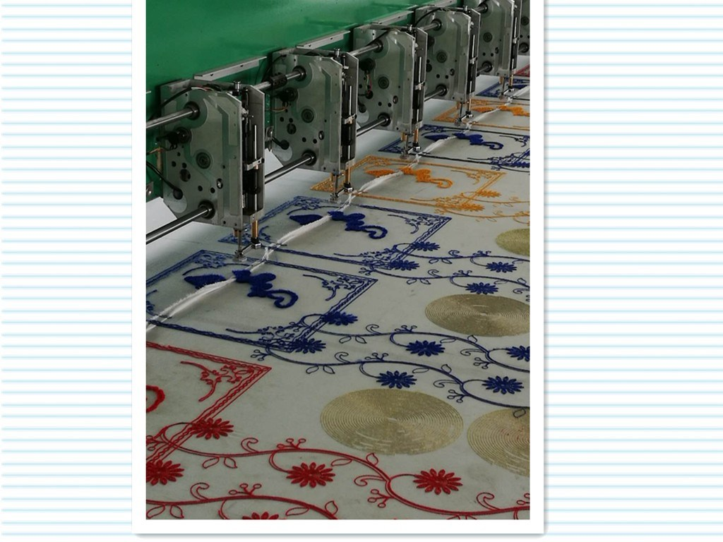Computerized 15 Colors Embroidery Machine for Fabric with 2 Needles