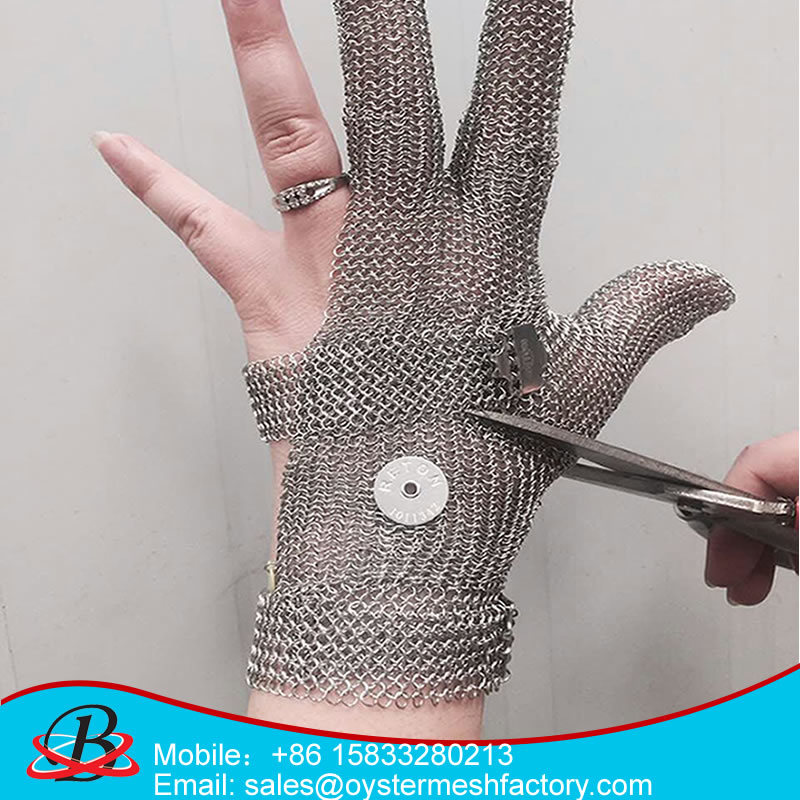 Metal Safety Anti-Cut Gloves 5 Finger