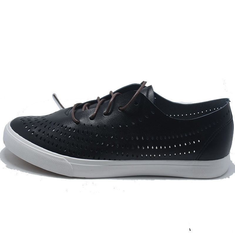 2017 Men Leather PU Lace Fashion Canvas Casual Sport Shoes