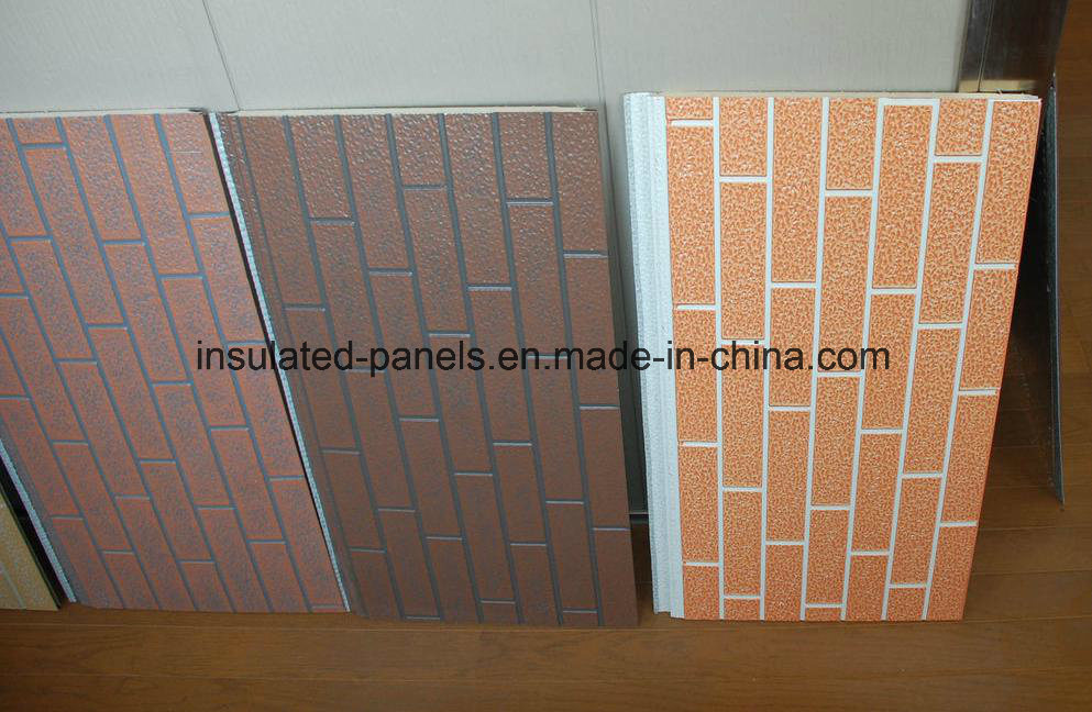 Embossed Metal Coating Decorative Heat Insulation Panel for House Exterior Wall