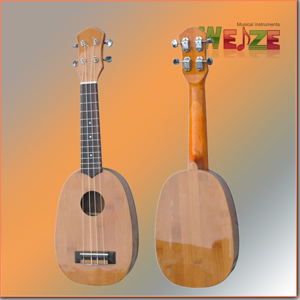 Pineapple Shaped Bamboo Hawaii Ukulele