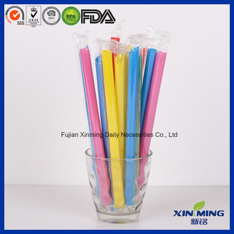 Film Wrapped Jumbo Colors Straight Drinking Straw