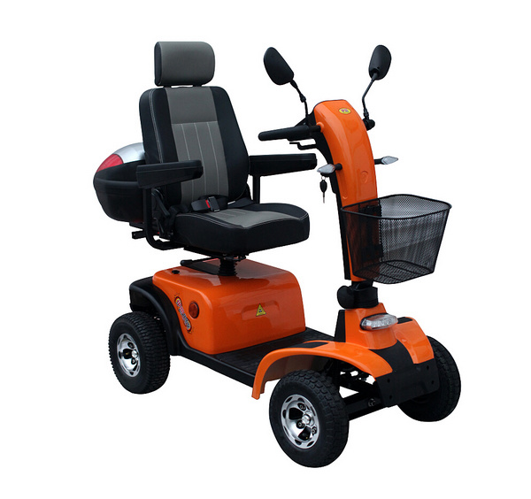 Four Wheels Electric Mobility Scooter with Rear Box