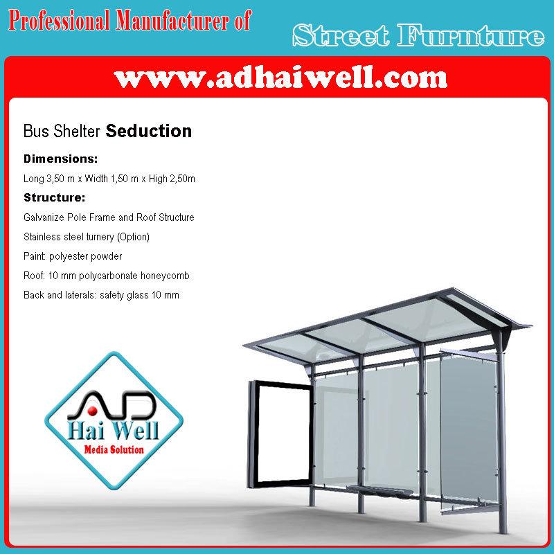 Good Design Public Street Furniture Bus Shelter Advertising Panel