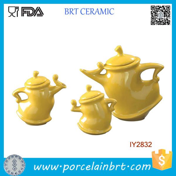 3PCS Super Fun Twisty Kettle Ceramic Tea Set