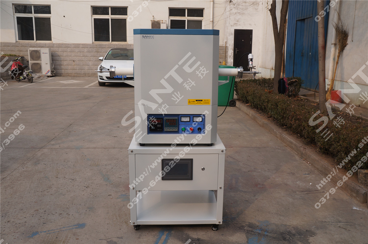 1700c CVD Atmosphere Tube Furnace with Alumina Tube
