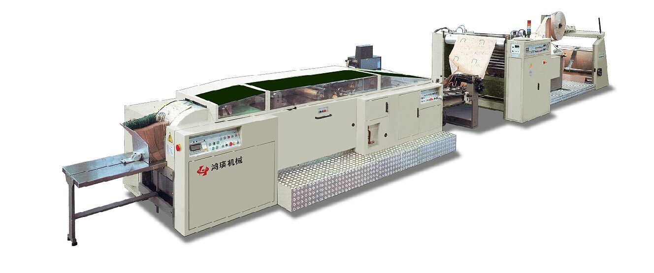 CE Paper Bag Making Machine with Handle in Line