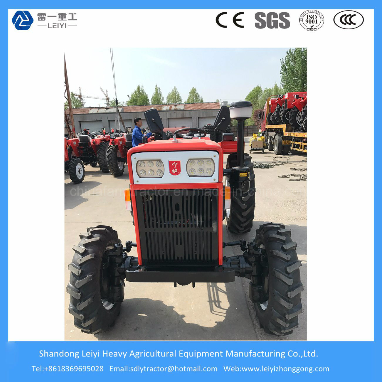 40HP 4WD Weifang Mini Farming/Agricultural/Lawn/Garden/Diesel Tractor with Farm Machinery