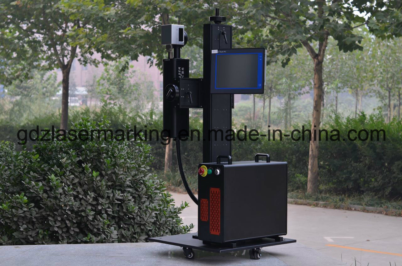 30W Ylpf-30qe Fiber Laser Marker for PP/PVC/PE/HDPE Plastic Pipe, Fittings Non Metal