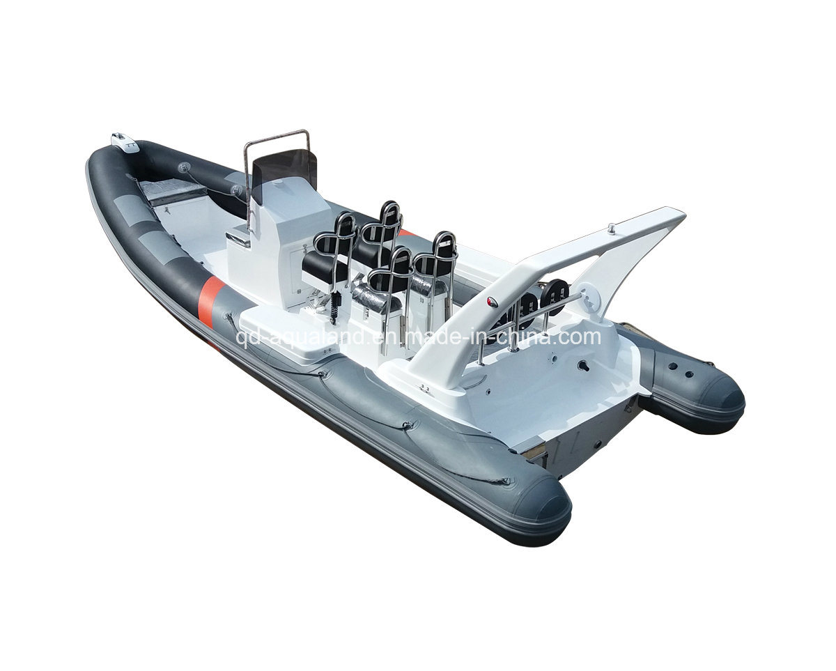 China Aqualand 25feet 7.5m Rib Patrol Boat/Rigid Inflatable Motor Boat/Rescue/Sports/Fishing Boat ((rib750b)