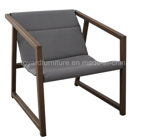 New Design Modern Hotel Leisure Furniture Indoor Outdoor Use Bistro Chair with Coffee Table Brown Finish