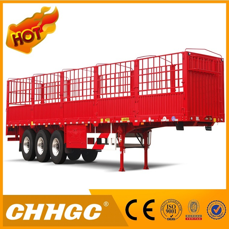 CCC ISO Approved Light Duty Box Fence Cargo Semi Trailer