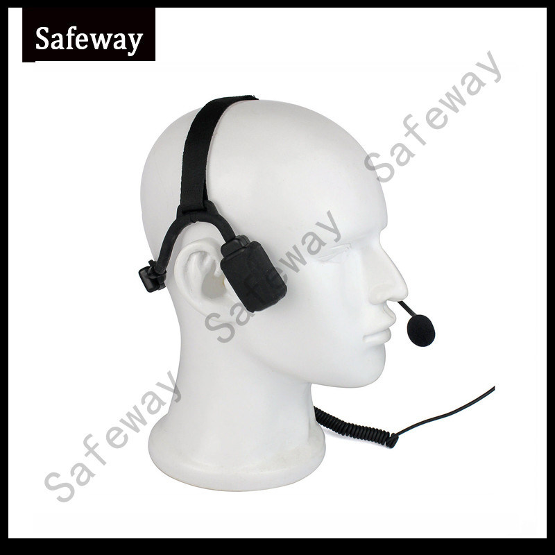 Military Bone Conduction Tactical Headset for Ht1000