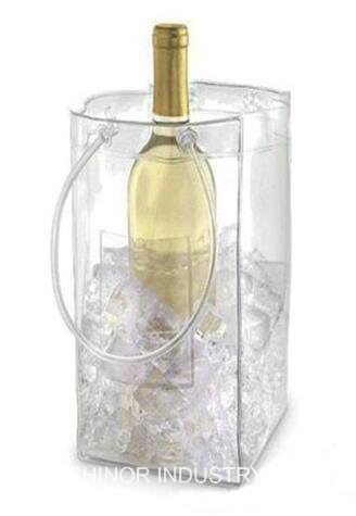 Plastic Reusable and Resealable Bubble Cushion Wine Bottle Bag