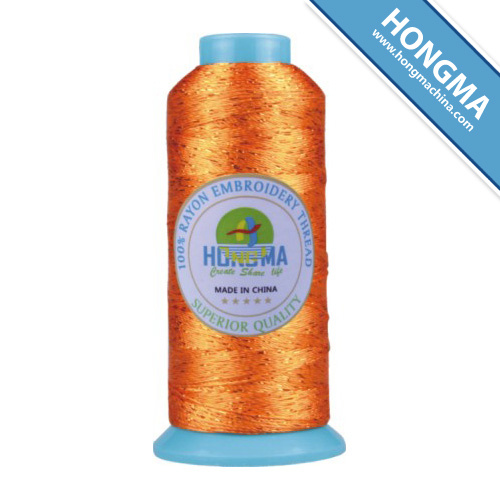 100% Rayon Embroidery Thread 300d with Multicolor Metallic Thread 100g 1002-1009
