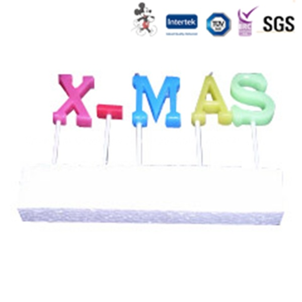 PVC Box Packaging Letter X-Mas Candle