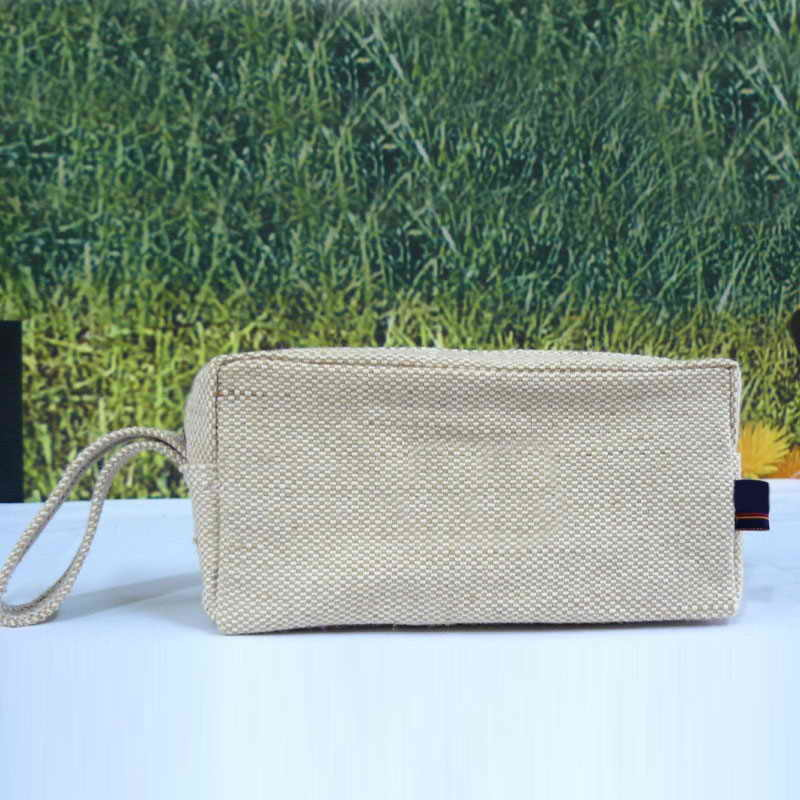 Customize Natural Jute Wash Bag/Washing Bag/Beauty Bag